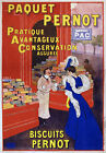 AV62 Vintage 1905 French Pernot Biscuits Advertisement Poster Re-Print A4