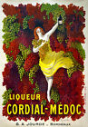 AV54 Vintage French Liquer Cordial-Medoc Wine Advertisement Poster Re-Print A4
