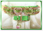 ~ Hearts A Sizzle ~ Crystal Rhinestone Dog Collar  #450