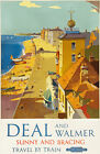 TU84 Vintage DEAL And WALMER Kent British Railway Travel Tourism Poster A4
