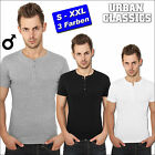 URBAN CLASSICS SLIM 1by1 HENLEY TEE SHIRT T-SHIRT SLIM FIT BUTTON DOWN NEU