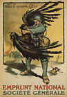 WA80 Vintage WWI French War Loan German Imperial Eagle Poster WW1 Re-Print A4