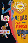 TX153 Vintage Las Vegas America Travel Airline Tourism Poster Re-Print A4