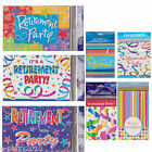 Assorted HAPPY RETIREMENT INVITATIONS ~ Celebration Party Invites Supplies