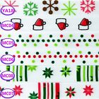 "3/8"" XMAS SNOW SNOWMAN HAT FANCY POLKA DOT FLOWER SATIN RIBBON DIY BOW CRAFTS"