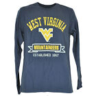 NCAA West Virginia Mountaineers Long Sleeve Navy Mens Adult Authentic Shirt