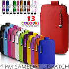 LEATHER PULL TAB POUCH SKIN CASE COVER & MINI STYLUS PEN FOR VARIOUS PHONES