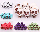 Wholesale Lots 40 pcs Turquoise Skull Head Spacer Loose Beads Findings 13x10mm