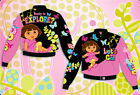 Dora The Explorer Jacket Let's Go Pink Black Girls Kids Size