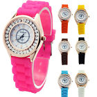 10 Colors Jelly Crystal Silicone Ladies Fashion Quartz Watch WristWatch Watches