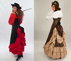 DRESS LIKE AN AIRSHIP PIRATE! STEAMPUNK NEOVICTORIAN FULL LENGTH BUSTLE SKIRT