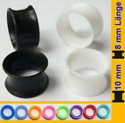 Extra Soft Silikon Flesh Tunnel Silicone Ear Plug Ohr Piercing double flared