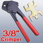 "1/2"" 3/4"" 3/8"" Pex Crimper Crimping Tool w/ Go No Go Gauge Copper Ring Plumbing"