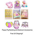 Official Peppa Pig Duvet Covers, Bedding & Bedroom Accessories (FREE UK P+P)