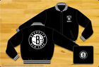 Brooklyn Nets NBA Jacket All Black Reversible Wool Nylon Adult Jacket Licensed on eBay