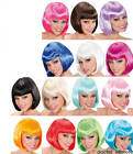 Quality Wig 14 Bright Colours Fancy Dress Short Bob Straight Neon Girls & Adult