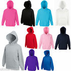 FRUIT OF THE LOOM CHILDS HOODED TOP HOODIE 10 COLOURS ALL AGES