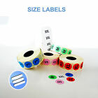 1000 x 19mm SELF ADHESIVE SIZE STICKER LABEL/ LABELS RETAIL SHOP S, M, L, X, XXL