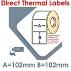 102mm x 102mm WHITE Direct Thermal Labels 500 per roll for Zebra type printer