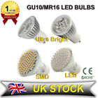 6X GU10/MR16 21/48/60/80 LED SMD 4/6W LIGHT BULBS DAY/WARM WHITE BULB SPOT LAMPS
