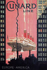 TX213 Vintage Cunard Line Shipping Cruise Ship Travel Poster Re-Print A2/A3