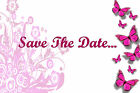 Personalised Butterfly Wedding Save The Date Cards