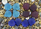 4 x Beach Sea Glass Shells Pendant Beads 27x30mm Pick Your Color! S28
