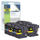 16 Compatible Brother LC127XL / LC125XL Multipack Printer Ink Cartridges