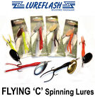 FLYING  C Salmon Lures Fishing - As Low as 90p each Lureflash Brand Best Quality