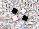 20 white black four-leaf flower metal sewing Buttons 13mm BU160
