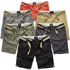 SURPLUS CHINO SHORT BERMUDA SURF GOLF WALK SHORTS DIVISION HOSE BERMUDAS +GÜRTEL