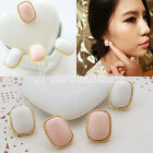 HOT Girl's LOvely Cute Fashion Earrings Ear Studs Wholesale Pink White Wholesale