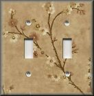 Light Switch Plate Cover - Asian Art - Cherry Blossom Flowers - Tan - Home Decor
