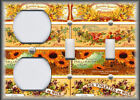 Metal Light Switch Plate Cover - Vintage French Soap Labels Decor Yellow Flowers