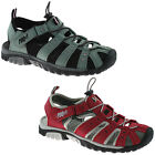 LADIES PDQ CLOSED TOE SPORTS SANDALS SIZE UK 3 - 9 WALKING RED OR GREY L377 KD