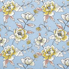 "CANVAS COTTON UPHOLSTERY SOFA CIRTAIN CUSHION CRAFT ELEGANT FLORAL FABRIC 44""W"
