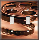 Light Switch Plate Cover -  Movie Room - Film Reel 01 - Home Decor