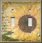 Light Switch Plate Cover - Vintage Sunflower - Floral Home Decor