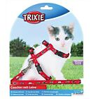 Kitten Small Cat Harness And Lead Set   Red Blue Black Purple 4144 Nylon TX