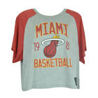 NBA Unk Miami Heat Rhinestone Women Ladies Flowy Loose Distressed Top Shirt