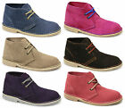 Roamers MACIE Womens Ladies Suede Leather Bright Colourful Lace-Up Desert Boots