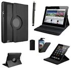 BLACK LEATHER 360 ROTATING CASE FOR SAMSUNG GALAXY TABLET & MOBILE PHONE CASE
