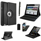 BLACK LEATHER 360 ROTATING CASE FOR AMAZON KINDLE FIRE PLUS MOBILE PHONE CASE