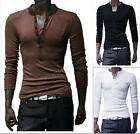 Stylish Top Mens T Shirt Slim Fit Long Sleeve Casual Tee Collection Size M-XXL