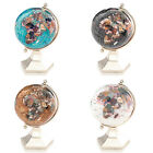 "4"" Gemstone Globe with Gold Colored Contempo Stand"