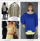 Fashion Women's 2 In 1 Style Bat shirt Loose Batwing Tops Blouses T-shirt & Vest