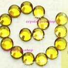 Citrine Yellow Iron On Hotfix Flat back Rhinestones Crystal Glass Diam​ante Gems