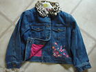 GIRLS DENIM JACKET WITH FUR COLLAR AGES 2-8 BRAND NEW