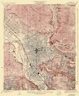 Topographical Map Print - Glendale California Quad - USGS 1928 - 23 x 28