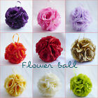 WHITE IVORY COLOR SILK KISSING POMANDER FLOWER GIRL BALL FOR WEDDING DECORATION